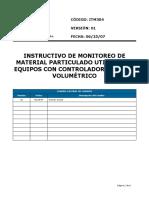 ITM304-01 Instructivo de Monitoreo de Material Particulado utilizando Equipos con Controlador de Flujo Volumétrico