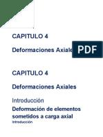 Capitulo 4. Deformaciones Axiales