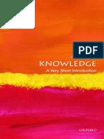 (Very Short Introductions) Jennifer Nagel - Knowledge_ A Very Short Introduction-Oxford University Press (2014)