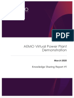 AEMO Knowledge Sharing Stage 1 Report