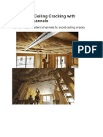 Preventing Ceiling Cracking with Resilient Channels