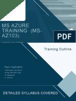 Microsoft Azure Administrator-AZ 103