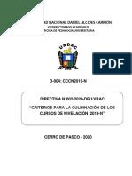Directiva N° 04-2020-Culminación de Nivelación 2019-N
