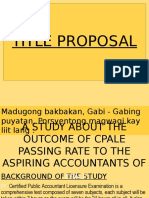 TITLE-PROPOSAL-CPALE