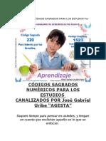 RECOPILACIÓN CÓDIGOS SAGRADOS PARA LOS ESTUDIOS Por Agesta
