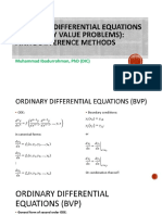 Lecture 3 - ODE (BVP) - Finite Difference