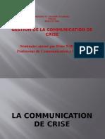 la communication de crise ppt