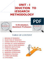 Introduction to Research Methodology - PPT