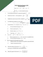 MAF11 Revision Question Sem 1 2019 Final Exam