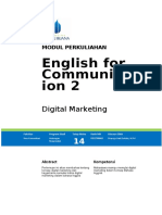Modul English for Communication 2 TTM14