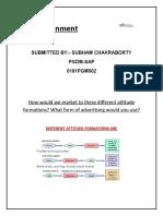 IMC  Assingnment, SUBHAM, PGDM-SAP NEW