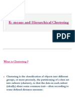 K-means and Hierarchical clustering