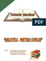 Parteneriat Gradinita -Biblioteca.doc