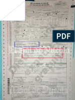 Acta de defunción - IMSS Tehuacán