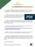 Nota Explicativa - Tribunal de Justiça do Estado nega pedido de reabertura do comércio em Venâncio Aires