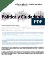 Clase 1 - Politica y ciudadania (concepto de política)