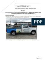 Anexo II - do Termo de Referência Especificação das adapatações nas Pick-ups Cabine Simples