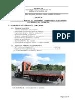 Anexo IV -Especificação do munck 12 e 18 ton. e carroceria caminhão munck