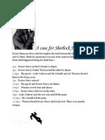 A case for Sherlock Holmes…
