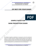 SAMPLE PAPER-BANK PROMOTION EXAMS-2016