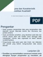 Paradigma dan Karakteristik Penelitian Kualitatif.ppt