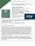 DuPaul, G. J., Weyandt, L. L., & Janusis, G. M. (2011). ADHD in the classroom Effective intervention strategies..pdf