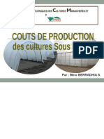 COUTS DE PRODUCTION DES CULTURES SOUS SERRES