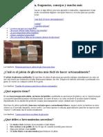 Métodos de preparación JABON