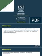 Slides de Aula - Unidade I - Copia