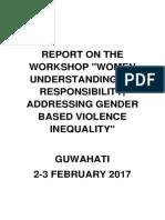 Guwahati Workshop Final Report