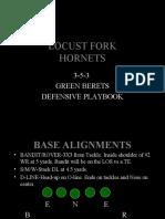 GREEN BERET 3-5-3 Defense Playbook