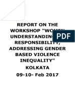 "Kolkatta GBV Workshop - RANCHI GBV WORKSHOP – ""WOMEN"