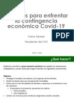 Medidas para enfrentar la contingencia económica Covid-19.