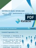 Aula_08 Historia do Brasil Republicano