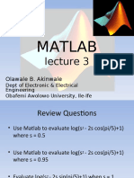 MAT LAB Lecture 3