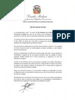 Mensaje del presidente Danilo Medina con motivo del Día Mundial de la Salud 2020