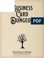 Bussiness Card Dungeon