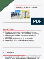 Capacidad, y distribución en   planta