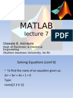 MAT LAB Lecture 7