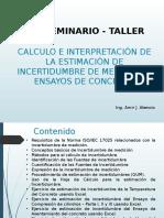 SEMINARIO TALLER-ESTIMACION DE INCERTIDUMBRE DE MEDICION.pptx