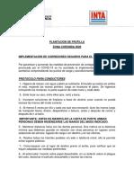 Protocolo Para Plantines de Frutilla