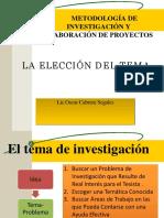 ELECCION DEL TEMA METODOLOGIA