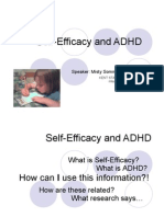 ADHD and Self Efficacy