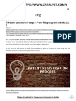Procedure for grants of patents