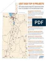 UDOT 2020 Top 10 Projects Infographic