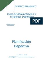Planificación Deportiva - Lic. Guillermo Castillo