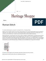 Roman Stitch - Heritageshoppe.com
