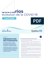 Quebec Covid-19 Scenarios – April 7, 2020
