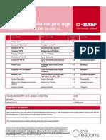 Shampoo Volume Pro Age (Formulation # HB-DE-10-209-11) (1)