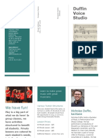 Duffin Voice Studio Brochure